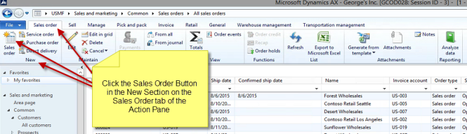 Image 11 – New Sales Order