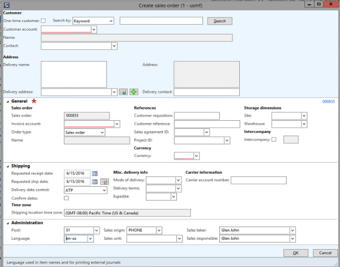 Image 12 – Create Sales Order Form